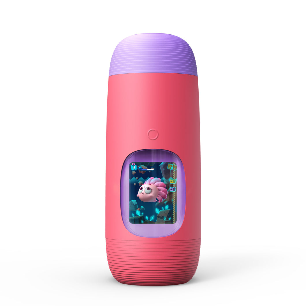 Gululu The Interactive Water Bottle & Health Tracker For Kids, plus App (Mermaid Pink)