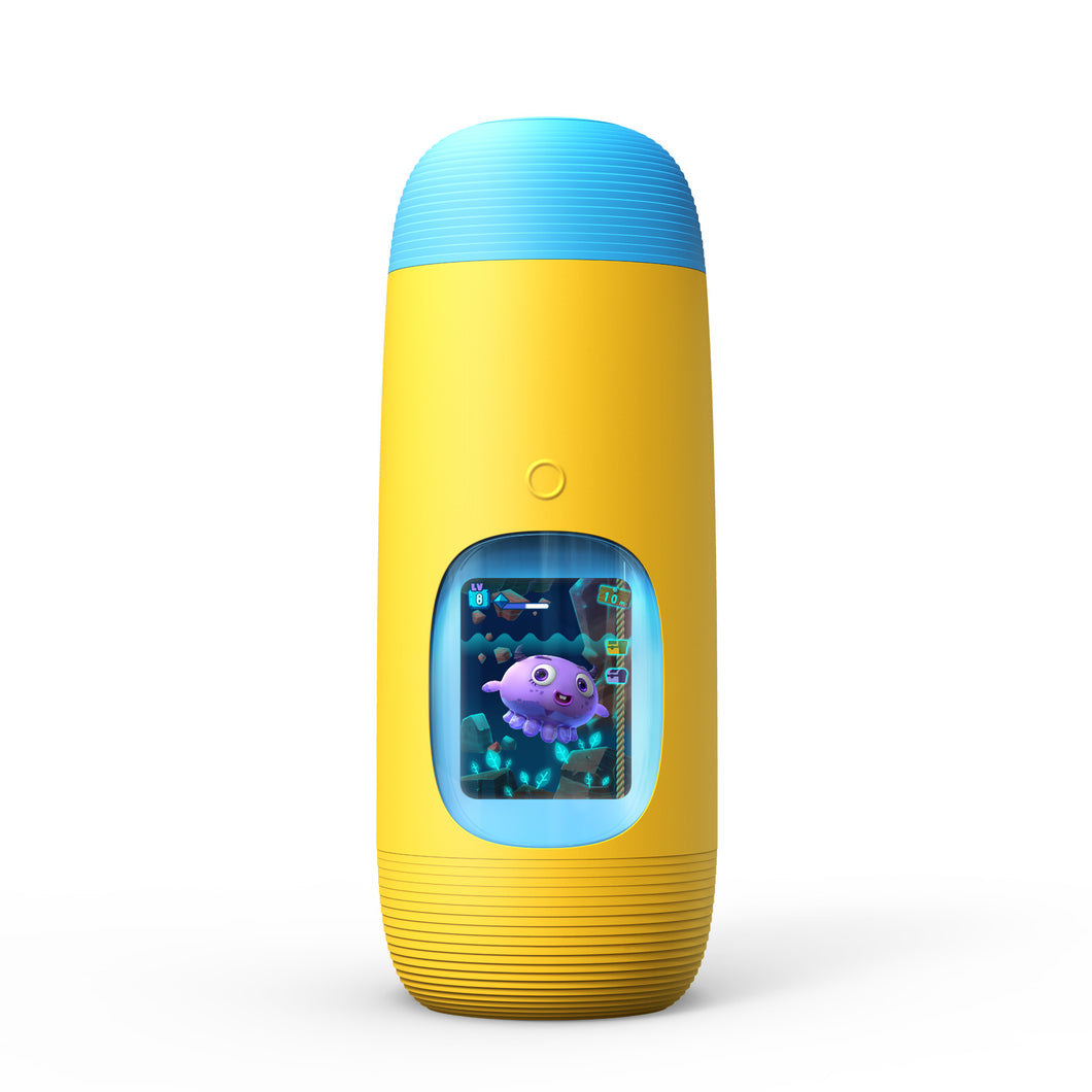 Gululu The Interactive Water Bottle & Health Tracker For Kids, plus App (Submarine yellow)