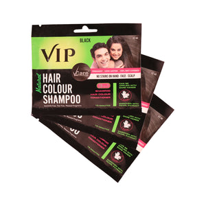 VIP 3 in 1 Hair Color Shampoo (Pack of 3 * 40 ml)