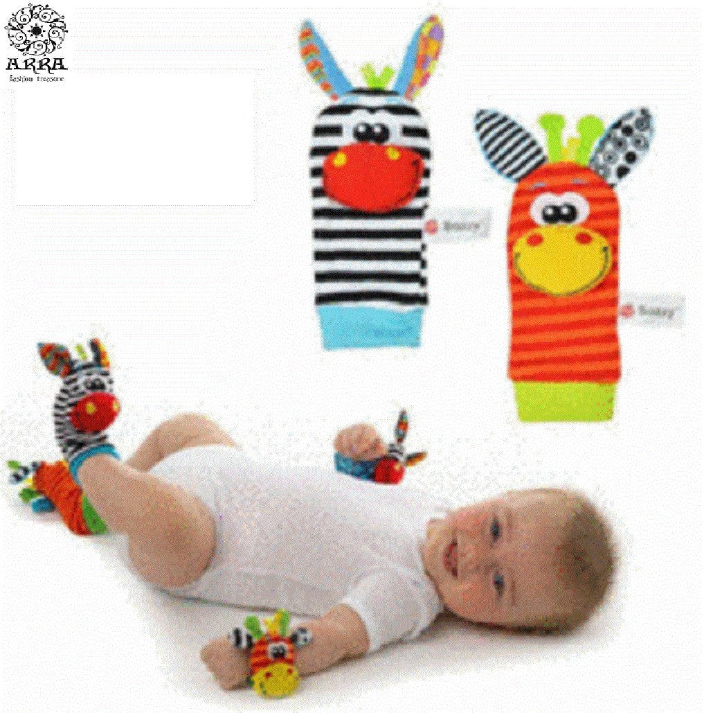 Baby Kids Infant Soft Sock 1 Pair (2 pc foot rattles) Developmental Toys