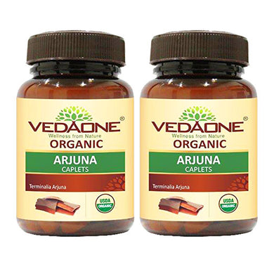 USDA approved Organic Arjuna Caplets (Pack of 2)