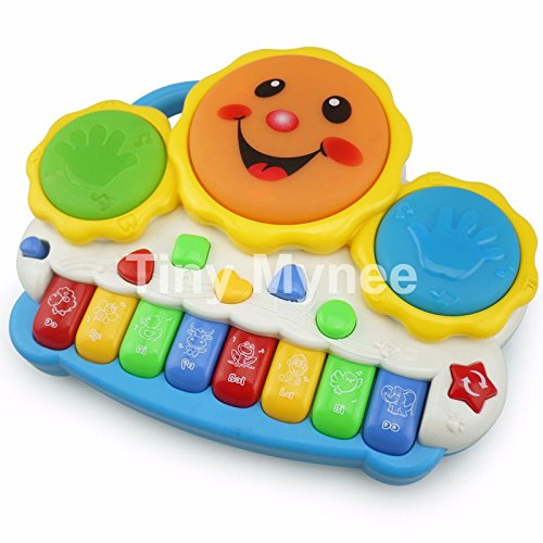 Baby Music Toy, Tiny Mynee Learning and Development Fun Toddler Toys Musical keyboard Drums Set for Babies Early Educational Game (Multi-color)