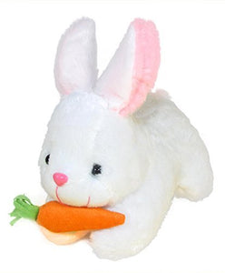 White Rabbit with Carrot Stuffed Soft Plush Toy (26 cm)