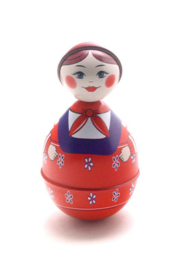 Roly Poly Doll Tin Toy for Kids