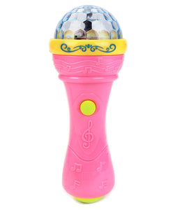 Music Microphone with Rotating 3D Lights and Music
