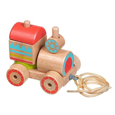 Wooden Color- Stacking Toyset Wooden Toy (Stack Train)