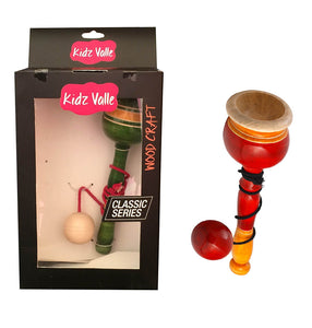Cup And Ball Game Wooden Rattle Toys