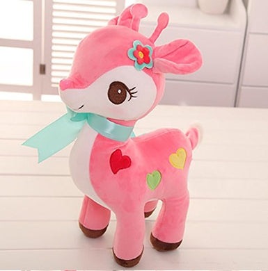 Soft Toy Deer 1Pc Soft Toy kids birthday Gift Stuffed Soft Plush Toy  25 cm (Pink color)