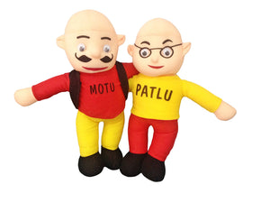 Baby Stuffed Toy Motu Patlu (Height-38 Cm) | Red Color