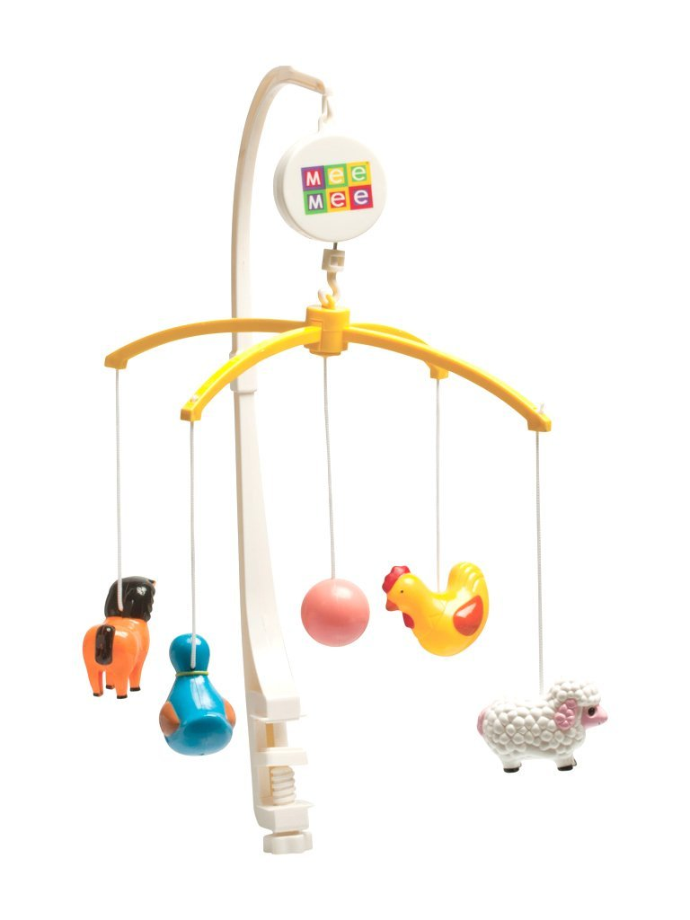 Musical Animal Cot Mobile (5-Toy Safari Theme)