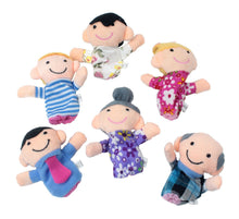 Family Finger Puppets - People Includes Mom, Dad, Grandpa, Grandma, Brother, Sister