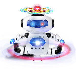 Best Musical and Naugty Dancing Robot (White/Blue)