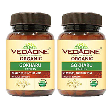 USDA approved Organic Gokharu Caplets (Pack of 2)
