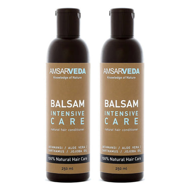 100% Natural and Safe Intensive Care Balsam | Ayurvedic Hair Conditioner with Jatamansi, Aloe Vera & Jojoba Oil extract (Pack of 2)