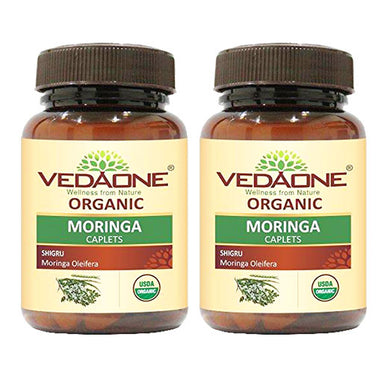 USDA approved Organic Moringa caplets (Pack of 2)