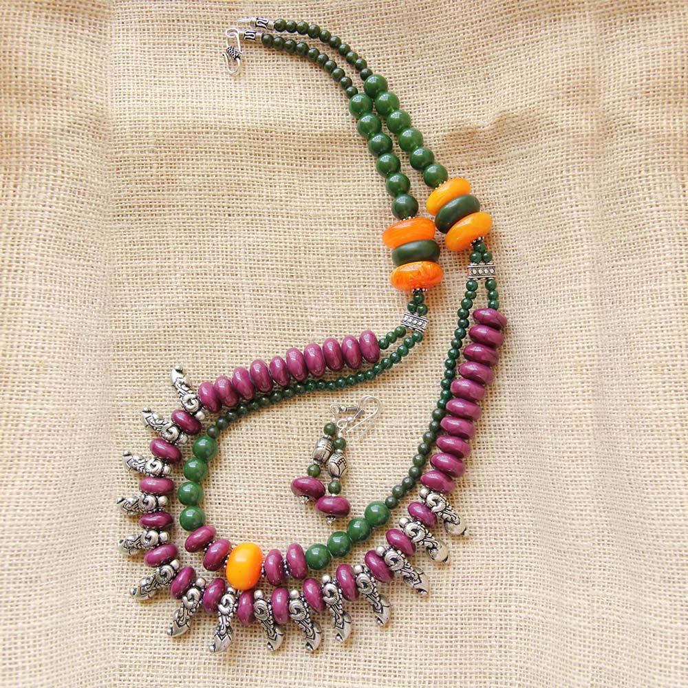 Purple Tribal necklace