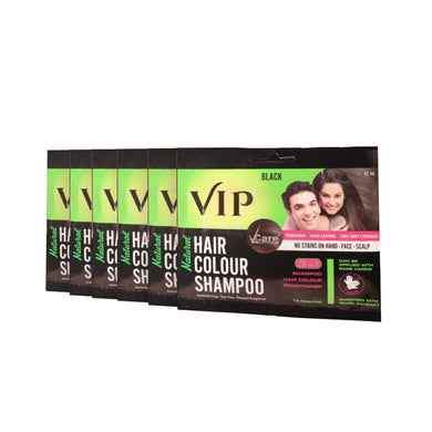 VIP 3 in 1 Hair Color Shampoo (Pack of 6 * 40 ml)