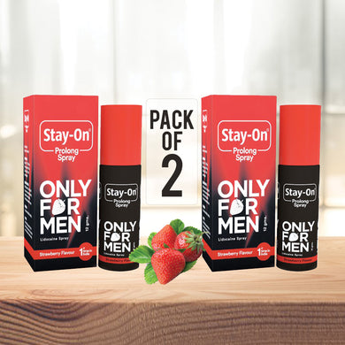 StayOn Prolong Spray pack of 2 lasts for upto 12 uses: Max pleasure, Full timing