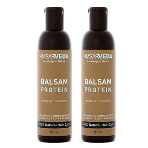 100% Natural and Ayurvedic Hair Conditioning Protein Balsam | Repairs Damaged, dull & lifeless Hair |Prevents Split-Ends & Nourishes Hair Shaft (Pack of 2)