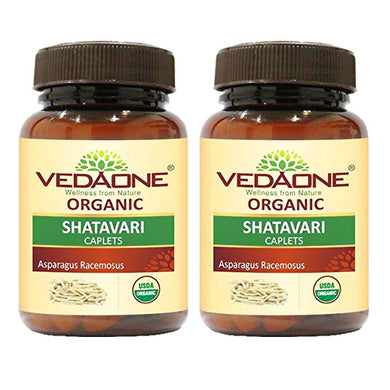 USDA approved Organic Shatavari Caplets (Pack of 2)
