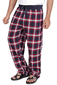 100% Cotton Navy and Red Checked Pyjama Sleepwear Night Wear