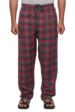 100% Cotton Grey and Red Checked Pyjama Sleepwear Night Wear
