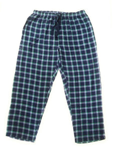 100% Cotton Blue and Green Checked Pyjama Sleepwear Night Wear