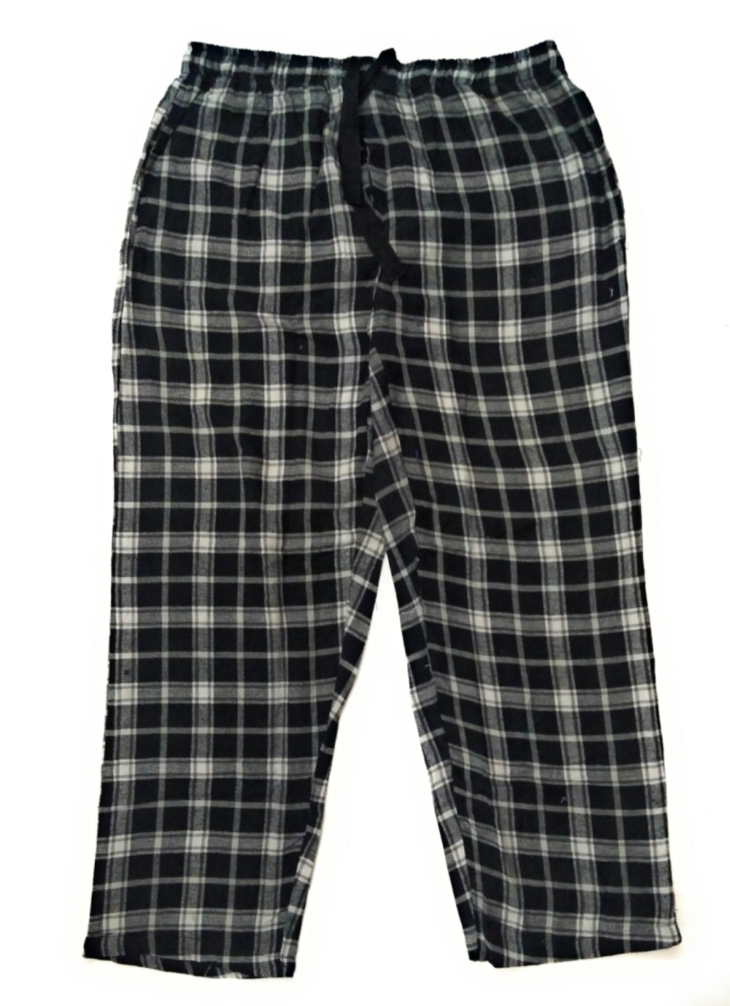 100% Cotton Black and White Checked Pyjama Sleepwear Night Wear
