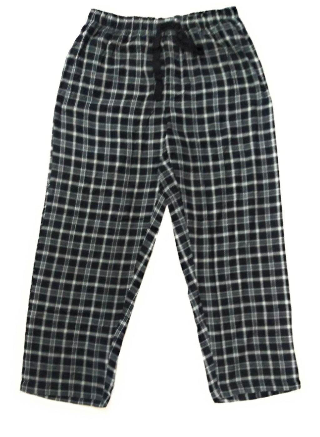 100% Cotton Black and Cream Checked Pyjama Sleepwear Night Wear