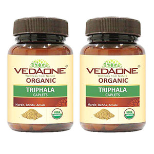 USDA approved Organic Triphala Caplets (Pack of 2)