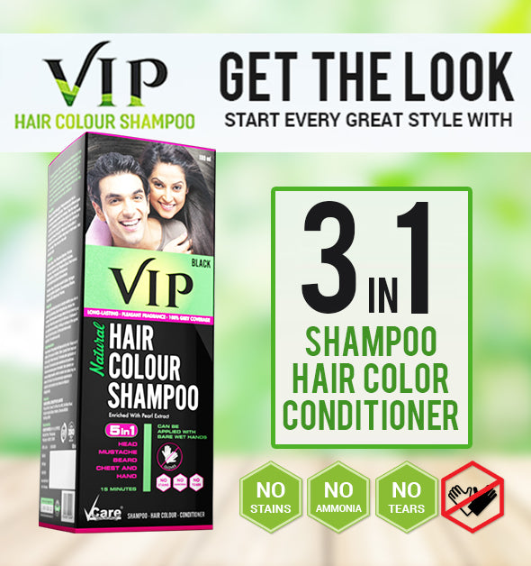 af69441de ... VIP 3 in 1 Hair Color Shampoo (180 ml) ...