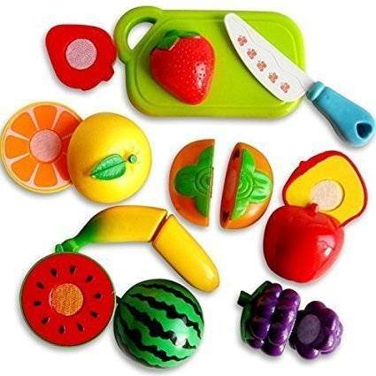 Sliceable Fruits And Vegetables Cutting Play Toy (Set Of 19 Pcs) for Kids Interactive Learning