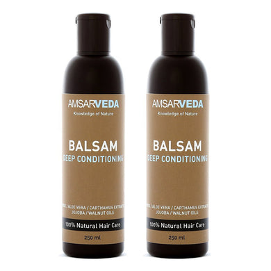 100% Natural and Safe Deep Conditioning Balsam | Ayurvedic Hair Conditioner with Amla, Shikakai and Aloe Vera extract (Pack of 2)