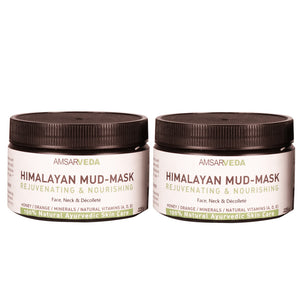 100% Ayurvedic Himalayan Mud-Mask with Honey, Orange and Natural Vitamins (Pack of 2)