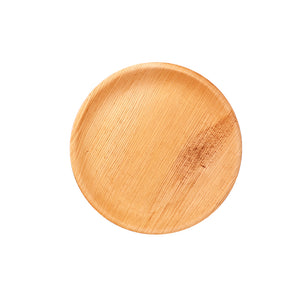 "100% Natural Areca leaves biodegradable Rectangle Disposable Salad Plates (5"" ) - Pack of 6"
