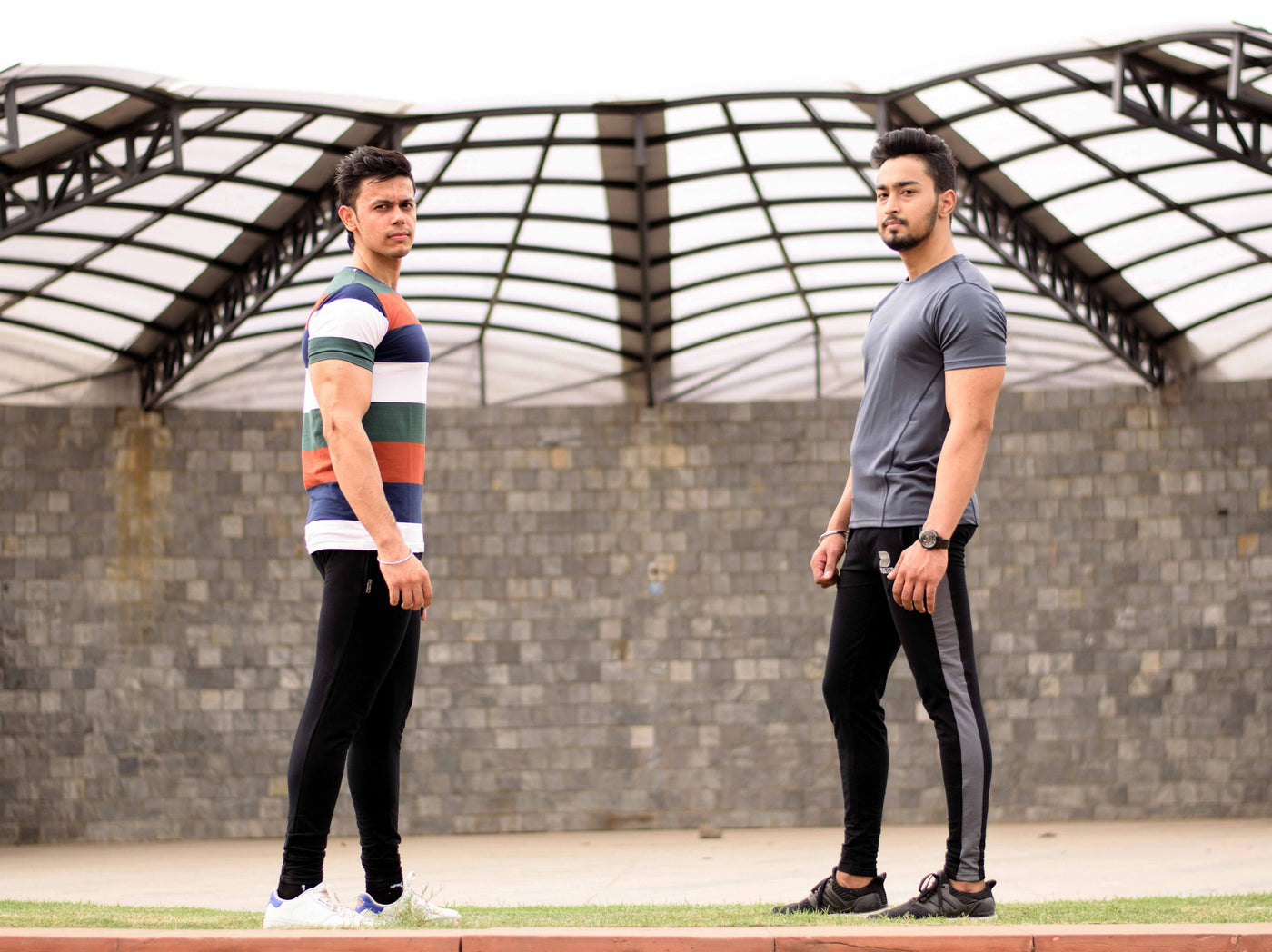 Devoted Allure Jogger V2.0 Black-Grey, All Black, Color Block Brown Dri-Stretch Grey T-shirt - Gym Wear & Sports Clothing - Stupa Shoot - Akshay Khanna(@Akay_Fitness) & Rohan Kapoor (@RohanKpr)
