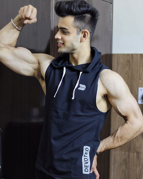 Nitish Saini rocking the Devoted Allure Sleeveless Hoodie