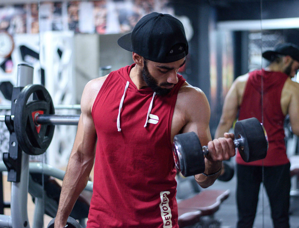 Devoted Blog - Guaranteed Fat Loss - Loose Fat Fast Naturally - Devoted Maroon Sleeveless Hoodie - Gym & Sports Wear