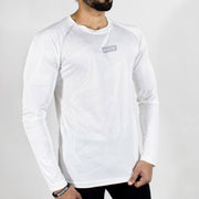Dri-Stretch Pro Full Sleeves T-shirt - Prime White - Devoted Gym Wear & Sports Clothing - Side