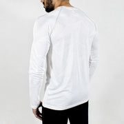 Dri-Stretch Pro Full Sleeves T-shirt - Prime White - Devoted Gym Wear & Sports Clothing - Back
