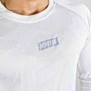 Dri-Stretch Pro Full Sleeves T-shirt - Prime White - Devoted Gym Wear & Sports Clothing - Close Up