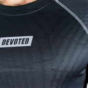 Dri-Stretch Pro Full Sleeves T-shirt - Charcoal web - Devoted Gym Wear & Sports Clothing - Closeup