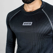 Dri-Stretch Pro Full Sleeves T-shirt - Charcoal web - Devoted Gym Wear & Sports Clothing - Close up