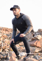 Devoted Sweatshirt Hoodie Black - Muscle Fit Gym wear & sports clothing - Outside Pic
