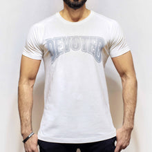 Devoted Allure T-shirt-White-Front | Silk-Stretch Muscle Fit | Gym Wear | SportsWear