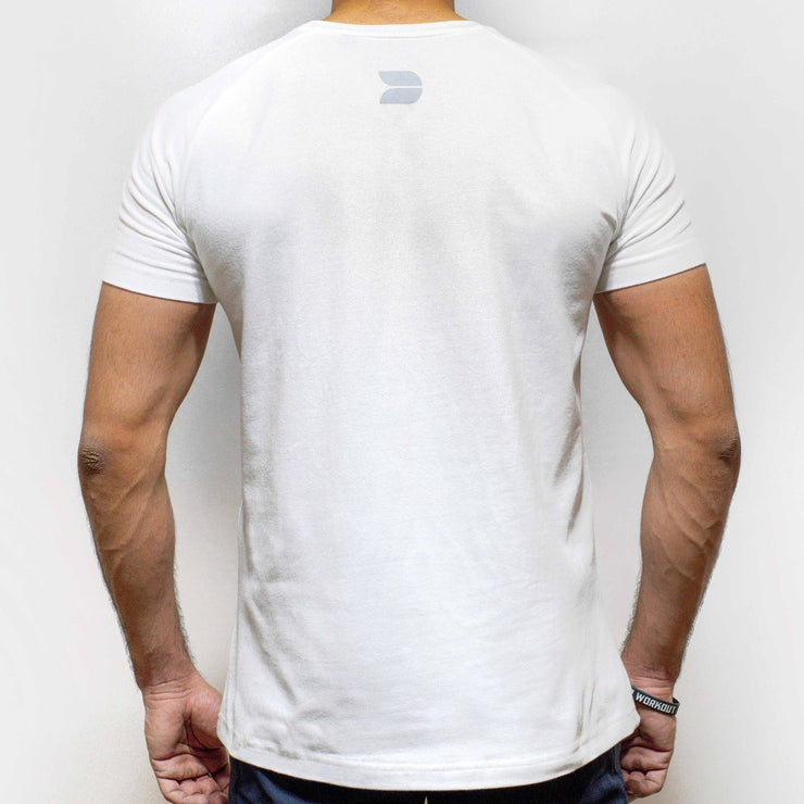 Devoted Allure T-shirt-White-Back | Silk-Stretch Muscle Fit | Gym Wear | SportsWear