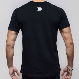 Devoted Allure T-shirt-Black-Stretch Back | Stretch-Muscle Fit | Gym Wear | SportsWear