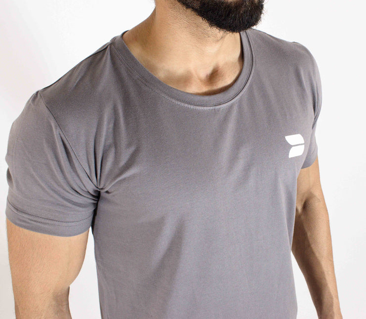 Allure Scoop Neck T-shirt - Gym Wear -  Stone - Devoted Wear  | India | Sports Wear - Front top