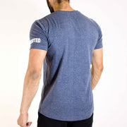 Allure Scoop Neck T-shirt - Gym Wear - Midnight Blue - Devoted Wear  | India | Sports Wear - Back