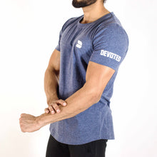 Allure Scoop Neck T-shirt - Gym Wear - Midnight Blue - Devoted Wear  | India | Sports Wear - Side